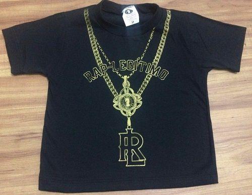 Camiseta Rap Legitimo, corrente, infantil