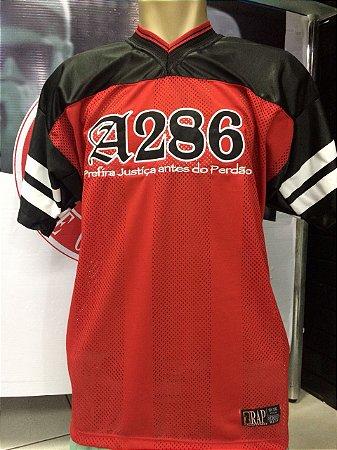Camiseta A286, bordada, Prefira Justiça antes do Perdão