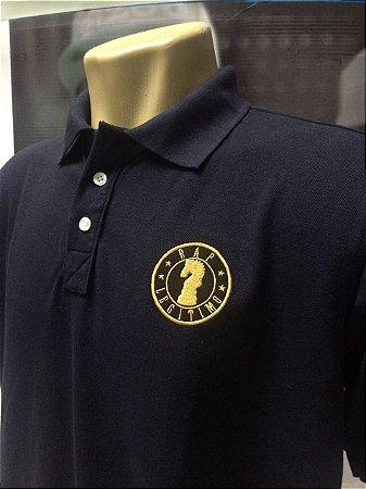 Camisa Polo Rap Legítimo Piquet - Marinho e Dourado