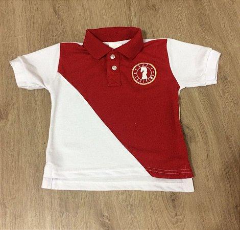 Camisa Polo Infantil Rap Legítimo Piquet - Vermelho e Branco
