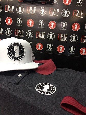Kit Camisa polo grafite e vinho + Boné Rap Legítimo