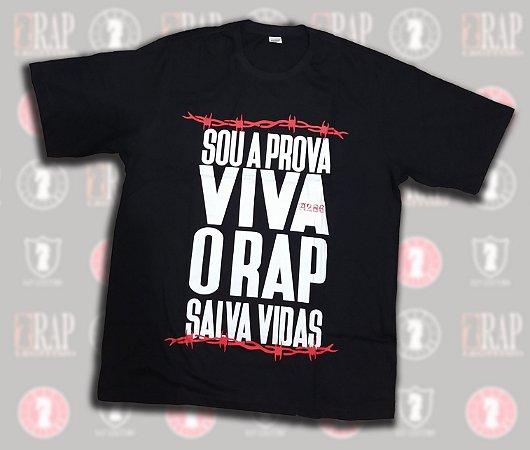 Camiseta A286 - Sou A Prova Viva, O Rap Salva Vidas