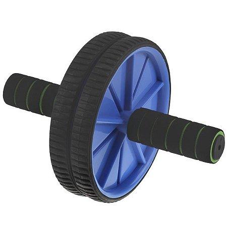 Roda Para Exercícios Abdominal Lombar Exercise Wheel +apoio Azul