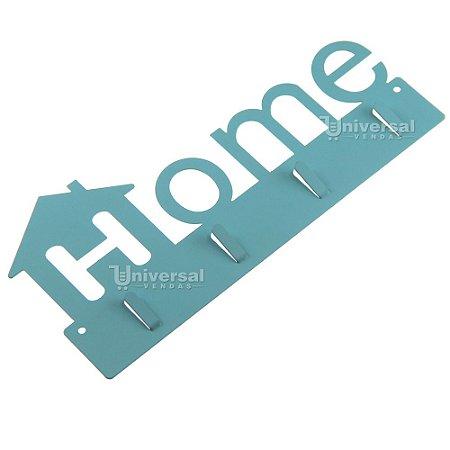 Porta Chaves Metal Parede Casa Decoração Palavra Home