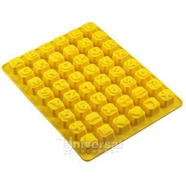 Forma De Silicone Alfabeto Letra Abc Chocolate Gelo Sabonete