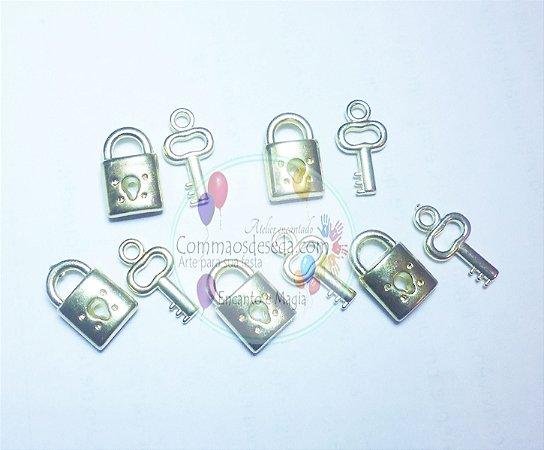 Kit  5 Conjuntos Cadeado chave