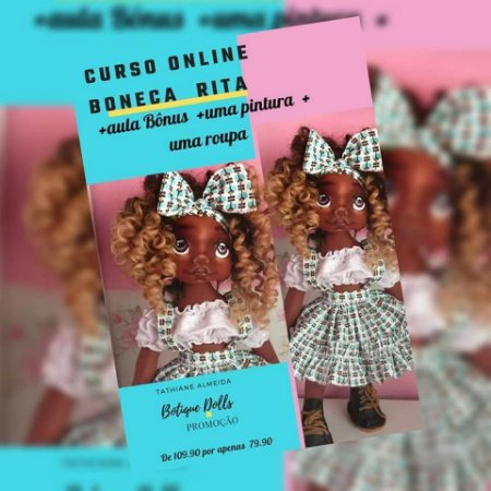 Curso 100% Online Boneca Rita e mais - Link de compra na descrição