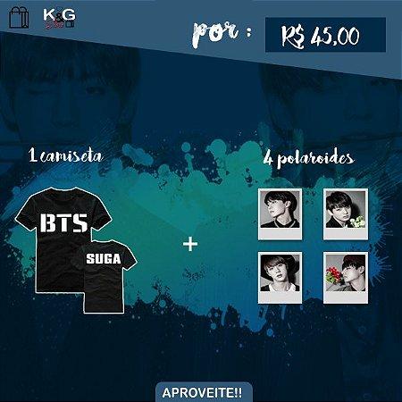 Camisas BTS + 4 Polaroids