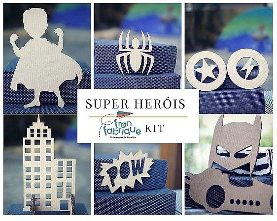 Festa Super Heróis- Kit de imagens
