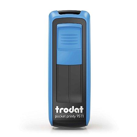 Carimbo de Bolso Trodat Pocket 9511 Azul Céu