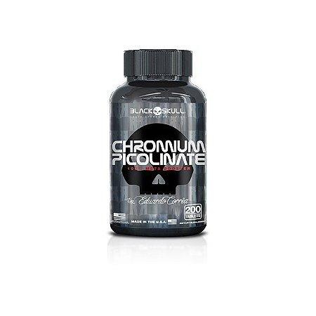 Picolinato de Cromo - Chromium Picolinate - 200 tabletes - Black Skull