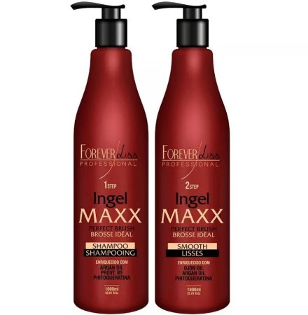 Escova Progressiva Forever Liss Kit Ingel Maxx 1000ml
