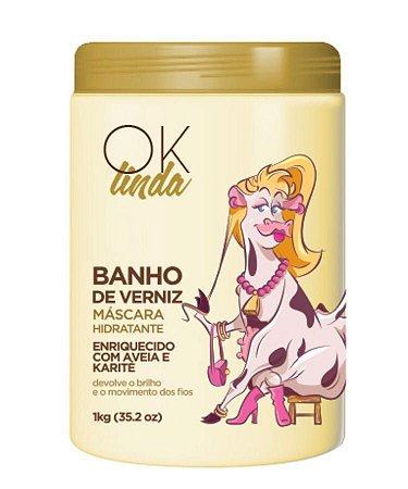 Ok Linda - Banho de Verniz - Máscara Hidratante - Fine Portier 1Kg
