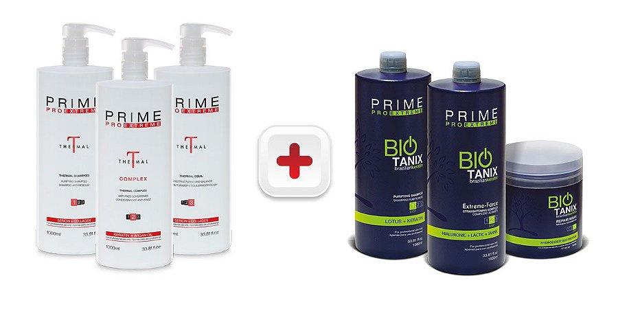 Escova Progressiva Prime Pro Extreme Kit Combo Bio Thermal - 1000ml