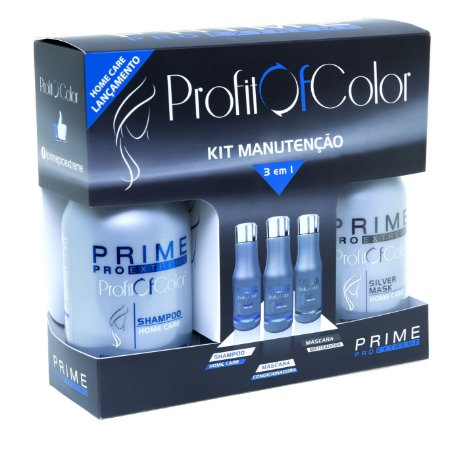 Kit 3D Profit of Color Home Care Prime Pro Extreme - Shampoo + Máscara Condicionadora + Máscara Matizadora