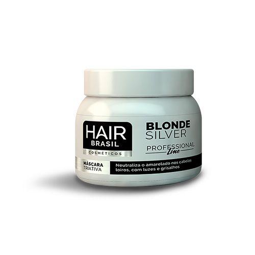 Matizador Máscara Blonde Silver 250g - Hair Brasil