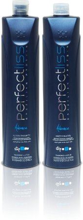 Perfectliss Advance New Advance Passo 1 Step 1 Shampoo 1000ml + Passo 2 Step 2 Ativo 1000ml