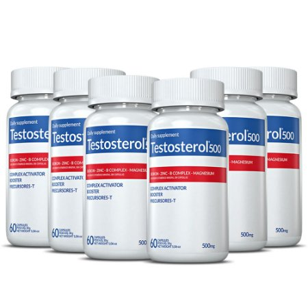 Suplemento Testosterol 500 60 cápsulas 6 unidades - Biolabs