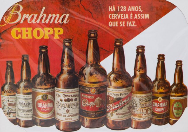 Placa Decorativa Retrô - Brahma Chopp