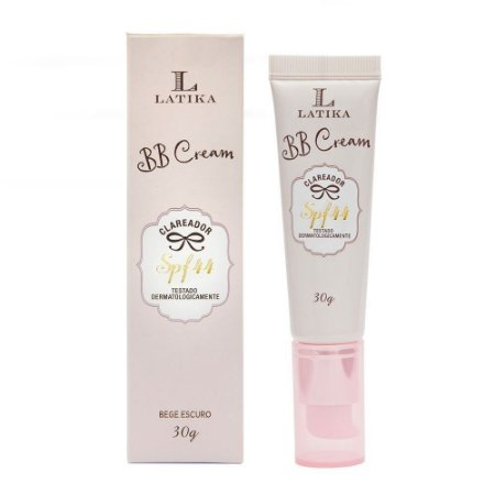 BB Cream Latika Clareador FPS 44 Base Bege Escuro
