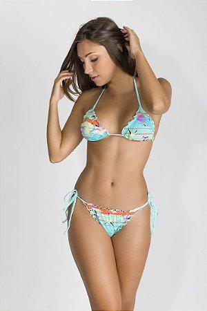 Biquíni Frufru - Laguna - Rosa Tropical