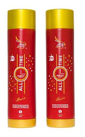 Escova Progressiva Zap All Time - Kit 2 x 1 Litro - Zap Cosméticos