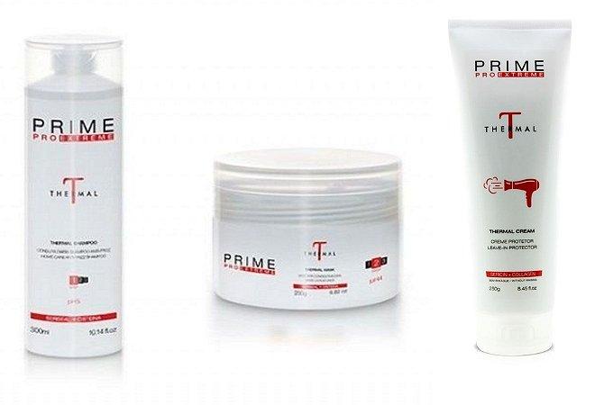 Kit Prime Pro Extreme Thermal - Shampoo + Máscara + Leave-in Manutenção Homecare