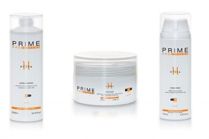 Kit Prime Pro Extreme Hydra - Shampoo + Máscara + Leave-in Manutenção Homecare
