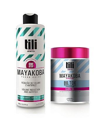 Kit Combo Escova Progressiva 1000ml + Bbtox Mayakoba 1Kg - Tili Cosmetics