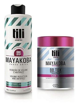 Kit Combo Escova Progressiva 1l + Bbtox 1kg Tili Mayakoba