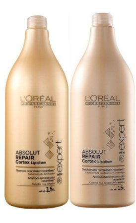 L'Oréal Absolut Repair Kit Shampoo 1,5 L + Condicionador 1,5 L Loreal