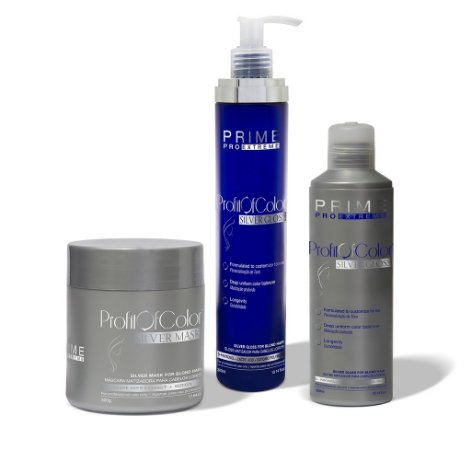 Profit of Color Matizador Silver Blond Prime Pro Extreme Kit 3 Produtos