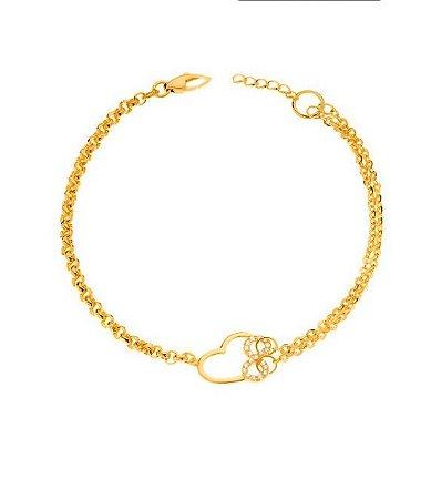 Pulseira em ouro amarelo amor infinito