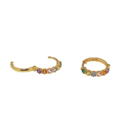 Argola em ouro colorida 13mm