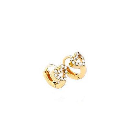 Argola love  em ouro amarelo com diamantes