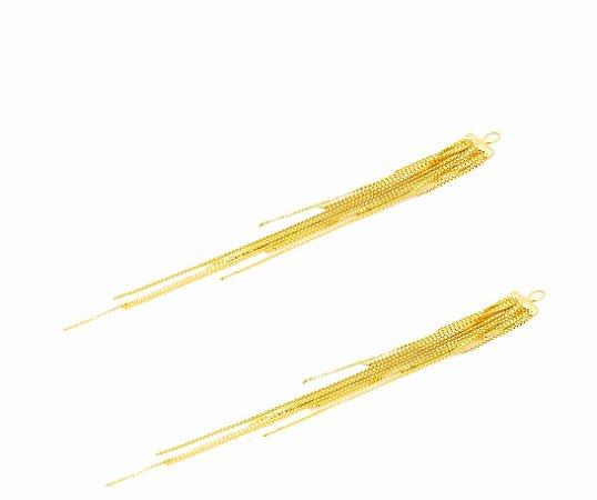 Franja para brincos em ouro amarelo 18k