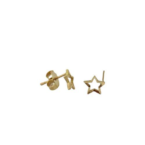 Brinco star mini em ouro amarelo 18k