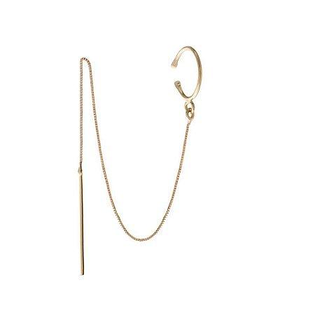 Piercing fio ouro (amarelo e branco)18K