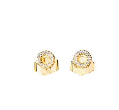 Brinco geo P em ouro ( amarelo/branco) 18K com diamantes