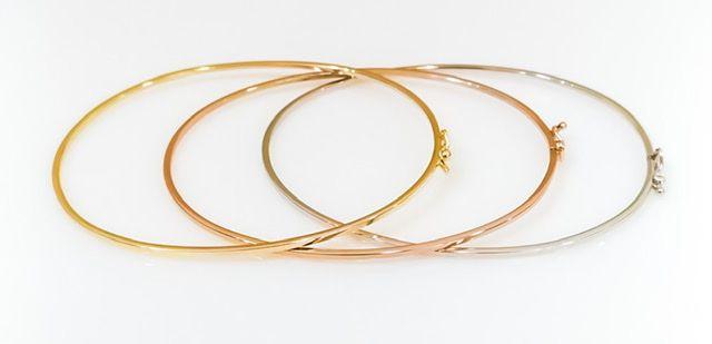 Bracelete em ( ouro amarelo, rose, branco). 18k