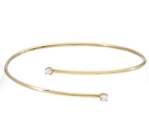 Bracelete em ouro amarelo 18k com diamantes