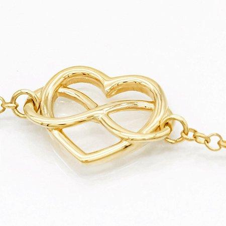 Pulseira true love em ouro 18k