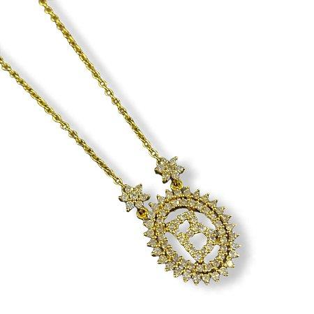 Gargantilha Personalizada em ouro com diamantes