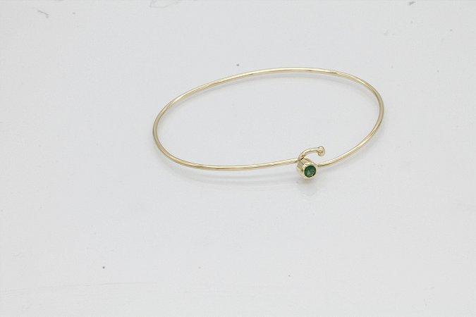 Bracelete em ouro 18k com esmeraldas