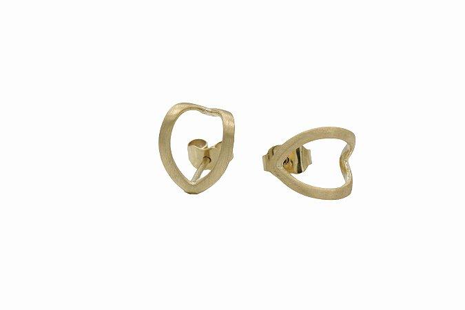 Brinco love em ouro 18k