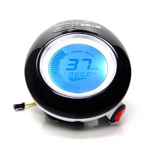 Farol Dianteiro Com Velocímetro Digital Bicicleta Elétrica 48v
