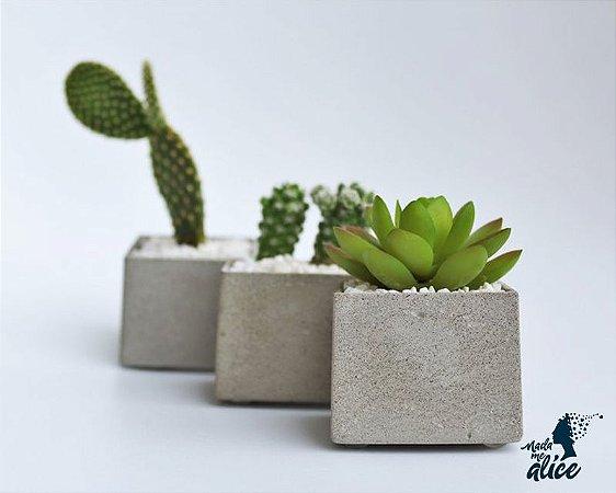 Mini Vaso em Concreto BE.104 - Kit com 3