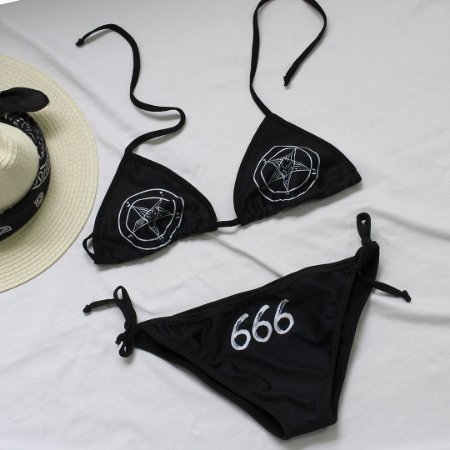 Biquini cortininha Pentagrama 666