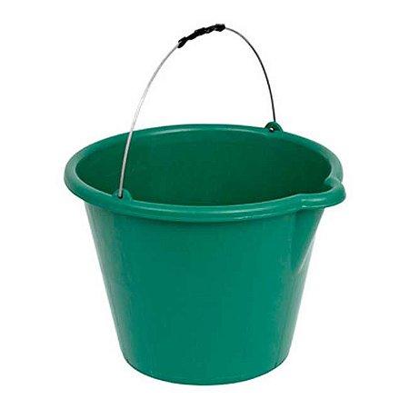 Balde Plástico Verde 12 lts c/ Pegador TSW-050