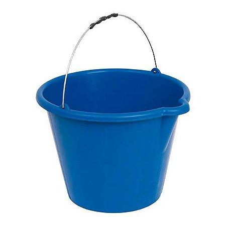 Balde Plástico azul 12 lts c/ Pegador Tsw-051